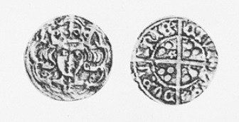 O'Reilly Money - Edward IV English type, light issue, G on breast, Coffey, pp. 32/3, Nos. 32-33 (roses in 2nd and 4th quarters) ex O'Connor coll. (Newry), wt. 19.3 grains