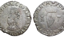 Ireland. Elizabeth I (1558-1603) BI Groat. Dublin, c.1558. ELIZA[B]ETA D'·G'·ANG'·FRA'·Z·HI, crowned and mantled bust left / POSVI:DEVM:ADIVTOREM:MEVM ·, crowned harp; crowned E R to left and right. S 6504. 3.04g, 25mm, 3h.