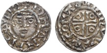 Ireland. John as lord of Ireland (1177-1199), AR Half-penny. Dublin, c. 1190-1198. +IOHANNES DO, facing diademed head / +TOMAS…VVE, voided cross potent. SCBI 10, Belfast, 231-74; S 6205. 0.71g, 14mm, 6h.