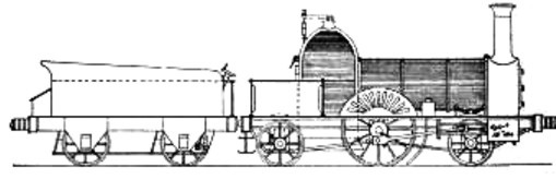 Waterford & Limerick Railway 5 ft. 2-2-2, built by Stothert & Slaughter of Bristol in 1846