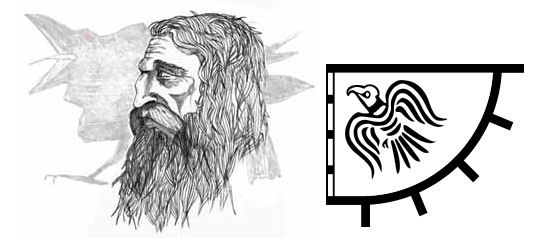 A modern sketch of Sigurd the Stout and his personal 'Raven' standard. Sigurd claimed rulership of Sodor (corruptions of the Norse 'Sudreyjar', or 'Southern Islands', i.e. those islands west and south of Scotland) and the Isle of Man, and held power until he died in battle in 1014. His son Thorfinn the Mighty (and heir to the Earldom of Orkney) was just a child at the time, but Godred's surviving son Harold (now known as Harold the Black) had come of age, and with Sigurd dead, Harold successfully moved to reclaim his father's kingdom in the isles
