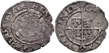 Edward VI. 1547-1553. BI Threepence (19mm, 0.99 g, 6h). In the name and types of Henry VIII. Dublin mint. Struck 1547-circa 1550. Crowned and mantled bust facing slightly right / Coat-of-arms over long cross fourchée. SCBC 6489. Good Fine, toned, ragged edge.