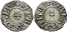 Hiberno-Norse Northumbria). Ragnald Guthfrithsson. Circa 943-944/5. AR Penny (19mm, 0.95 g, 5h). Cross Moline type. York mint; Avra, moneyer. + RE·G·N·A·L·D CVNVΓ (V's as inverted A's), cross moline / + AVRA MONIT REΓ (V as inverted A), small cross pattée. CTCE Group VI; SCBI 34 (BM) 1257 var. (obv. legend); North 547; SCBC 1025. Good VF, light tone, good metal. Extremely rare