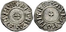 Hiberno-Norse Northumbria). Ragnald Guthfrithsson. Circa 943-944/5. AR Penny (19mm, 0.95 g, 5h). Cross Moline type. York mint; Avra, moneyer. + RE·G·N·A·L·D CVNVΓ (V's as inverted A's), cross moline / + AVRA MONIT REΓ (V as inverted A), small cross pattée. CTCE Group VI; SCBI 34 (BM) 1257 var. (obv. legend); North 547; SCBC 1025. Good VF, light tone, good metal. Extremely rare