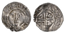 Ireland, John (as Lord), Second coinage, Halfpenny, Kilkenny, type Ib, Waltex, waltex on re, obv. reads iohannes, 0.70g/9h (O'Sullivan obv. die 5/rev. die 2; SCBI Belfast 139; S 6215; DF 40b). Parts of legend flat, otherwise about very fine and extremely rare