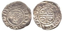 Prince John, as Lord of Ireland (1172-1199), Halfpenny, second coinage (1190-99), group Ib (1190-98), smaller diameter flan, Waterford Mint, Moneyer Marcus, facing diademed head, legend surrounding, rev voided cross potent within inner circle, annulets in angles, legend surrounding, 0.65g (Withers type I, Marcus 2a; D.F. 40A; S.6208). Cleaned, weak in parts, very fine for issue and rare