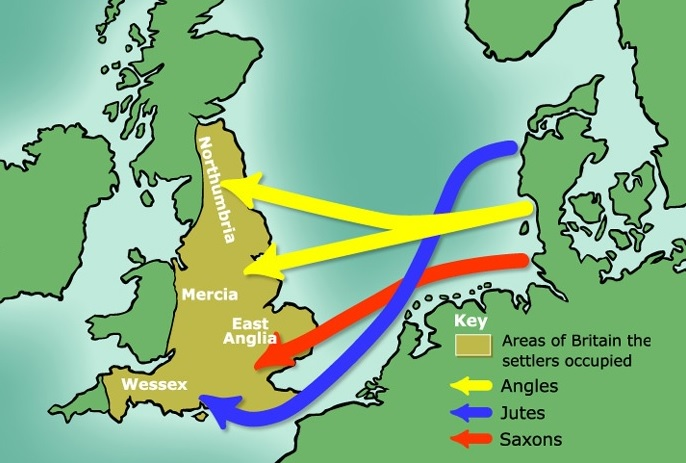 The original homelands of these European invaders were Germany, Denmark and northern Netherlands. They had wooden boats which they used to row around in the North Sea but the reason why these Germanic tribes were invading Britain is uncertain
