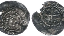 John as Lord of Ireland, silver halfpenny (First Profile issue) Elis moneyer, Dublin mint