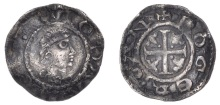 John, as Lord of Ireland, 1185 (First Coinage, Profile Issue) Halfpenny, Dublin, ROGER