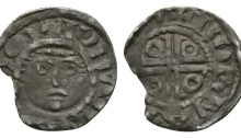 John as Lord of Ireland - Dublin / Norman - Cross Potent Halfpenny 1190-1198 AD. Second coinage, group I
