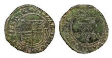 1601 Elizabeth I, Copper Penny (3rd Irish Coinage), Irish Coin Database, The Old Currency Exchange