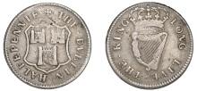 Ireland token, Charles II (1649-1685), Dublin Corporation, Halfpenny, 1679, in silver, arms of Dublin, · the · dvblin · halfpennie ·, rev. crowned harp, · long · live · the · king ·, edge grained