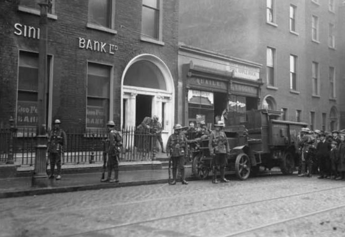 Several times in 1919 and 1920, during the Irish War of Independence, the Dublin Metropolitan Police (DMP) raided and ordered the closure of 6 Harcourt Street.