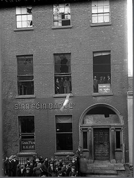 On 29 November 1920, the Sinn Féin Bank's offices at 6 Harcourt Street were damaged when the authorities took up the floorboards and blew open a secret underground safe