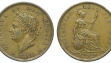 1826 GB & Ireland Copper Penny (George IV)