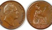 1837 GB & Ireland Copper Penny (William IV)