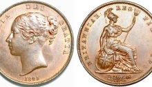 1841 GB & Ireland Copper Penny (Victoria) - no colon after REG