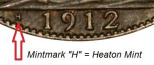 1912 (Heaton Mint)
