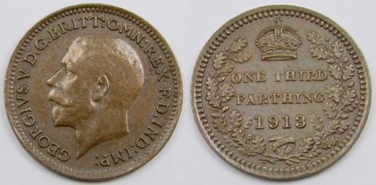 1913 GB & Ireland - Bronze Third-Farthing (George V)