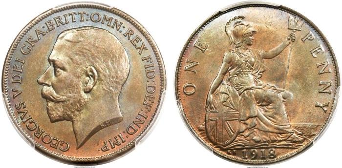 1918 GB Penny (KN) specimen
