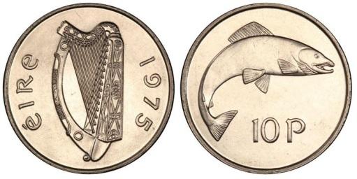 Ireland. 1975 Cupro-Nickel 10p, ex-King's Norton Collection