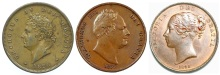 GB & Ireland - Copper Penny (George, William & Victoria)