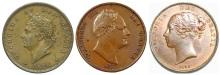 GB & Ireland - Copper Penny (George, William & Victoria)