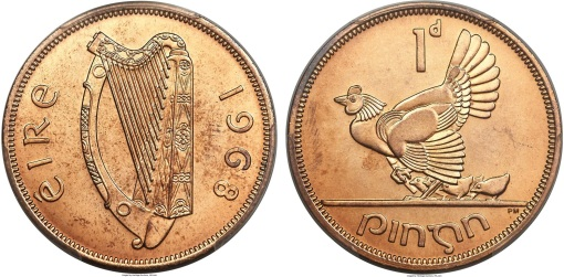 KNM collection - 1968 Irish penny