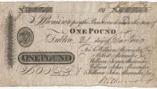 1820 £1 Alexanders Bank, Dublin (21 March 1820) no 4674