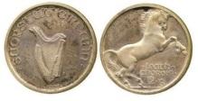 1927 Morbiducci pattern, halfcrown (silver). Rare Irish coin. Old Currency Exchange, Dublin, Ireland. Best Irish coin dealer