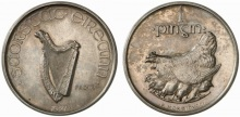 1927 Morbiducci pattern, penny (silver). Rare Irish coins - only 3 known. The Old Currency Exchange, Dublin, Ireland. Irish coin dealer. Banknotes, Tokens. Irish coin cabinet. ,