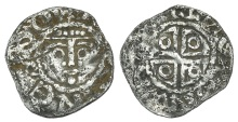 John (as Lord), Second coinage, Halfpenny, type 1b, Waterford, Wilmus, [—]llmvs on wa, 0.63g (S 6210, DF 39). Old Currency Exchange Dublin, Ireland. Irrish coin dealer Irish hammered coinage