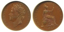 1826 GB & Ireland Farthing - Type II (couped, laureate bust)