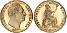1831 GB & Ireland copper farthing (William IV)