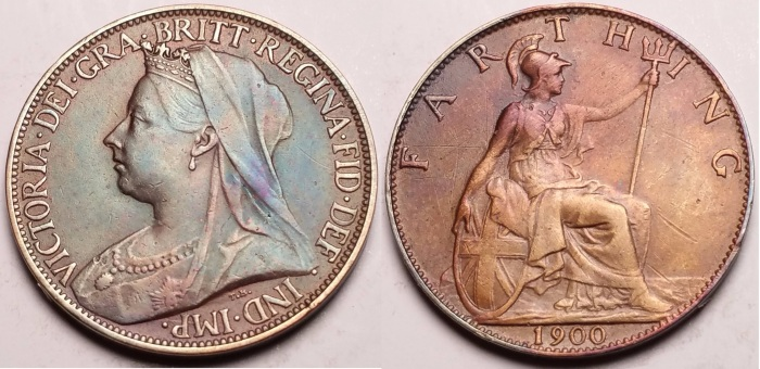 GB & Ireland bronze farthing (Victoria, Widow Head) - Type 2