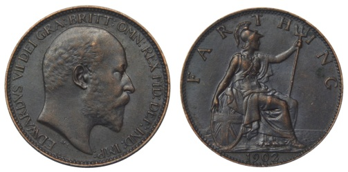 1902 GB & Ireland bronze farthing (Edward VII)