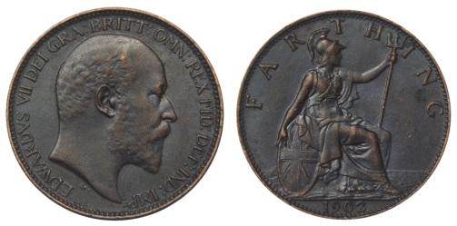 1902 GB & Ireland bronze farthing (Edward VII)