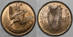 1928 Irish farthing