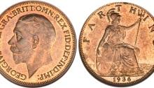 1936 GB & Ireland bronze farthing (George V)