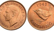 1943 GB & Ireland bronze farthing (George VI)