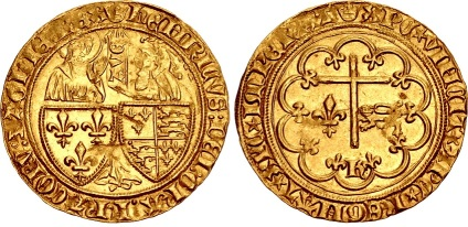 Anglo-Gallic, Henry VI, 1422-1461. Salut d'or (26mm, 3.49g)