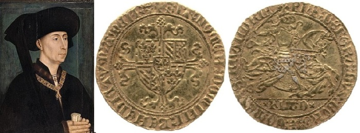 Gold noble of Philip the Good, Duke of Burgundy 1422-67