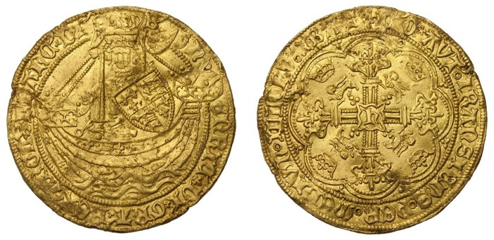 Henry VI Gold Noble, annulet issue, 6.94g 34.2mm