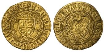 Henry VI Quarter Noble, London Mint, 1.67g 19.3mm