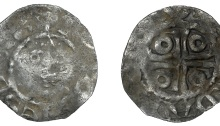 John (as Lord, 1172-1199), Second coinage, Halfpenny, type Ib, Dublin, Adam, adam on dvv, 0.63g (S 6205, DF 39)