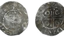 John (as Lord, 1172-1199), Second coinage, Halfpenny, type Ib, Dublin, Adam, adam on dvv, 0.63g (S 6205, DF 39)