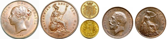 GB & Ireland - pennies and sovereigns