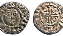 John as Lord of Ireland (1172-1199) Halfpenny 0.75g., second coinage, group 1b, Dublin, NICOLAS ON DW, O'S.3-2, DF 39, S.6205