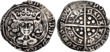 Edward IV (Second reign), Silver Groat, Light Cross & Pellets (annulets) coinage, Limerick Mint