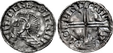 Irish Coin Daily: Hiberno-Norse Silver Penny (Phase I, Class B – Long Cross type) in the name of Sihtric. (Beorhtnoth, moneyer). Struck c 1000-1010